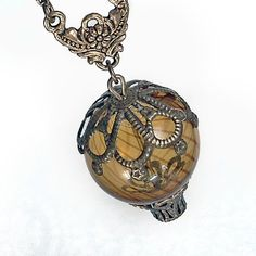 Steampunk Hot Air Balloon Pendant Necklace