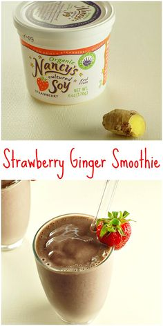 Quick and easy strawberry ginger smoothie