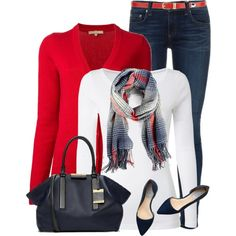 Red, White and Blue by daiscat on Polyvore featuring Michael Kors, White Stuff, rag & bone, Cole Haan and Sole Society