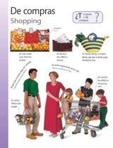 Shopping (De compras) themed vocabulary -- Introduce students to Spanish vocabulary they'll need to know for shopping.     Get the printables from TeacherVision: http://www.teachervision.fen.com/spanish-language/printable/70415.html