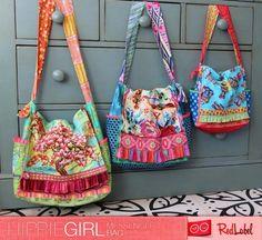 The Multi Size HippieGirl Messenger Bag - PDF Sewing Pattern from RedLabel Patterns
