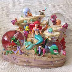 RARE Disney Little Mermaid Ariel Symphony Under The Sea Musical Snowglobes MIB | eBay