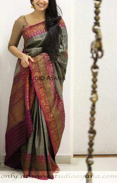 Sarees Sambalpuri Saree, Khadi Saree, Silk Saree Kanchipuram, Saree Dress, Silk Dupatta, Simple Sarees, Trendy Sarees, Stylish Sarees, Fancy Sarees