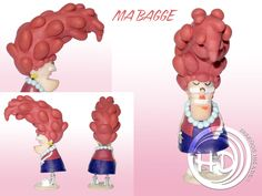 Figura de Ma Bagge, madre de Eustaquio, culpable de que éste sea un viejo malhumorado. Figura de 11 cm aprox. Hecha totalmente a mano. Materiales: arcilla polimérica FIMO. Cinderella, Disney Characters, Fictional Characters, Disney Princess, Art, 4 Years, Party, Ideas, Polymer Clay