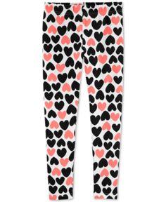 Carter's Little & Big Girls Heart-Print Leggings - Black/Pink Toddler Leggings, Cute Leggings, Best Leggings, Floral Leggings, Girls Leggings, Leggings Are Not Pants, Printed Leggings, Colorful Leggings, Girls 4