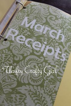 Thrifty Crafty Girl: Budget Binder