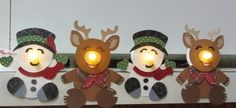 So cute!  Beth used battery tea lights for the ornaments she made using the CHRISTMAS CUDDLY FRIENDS SVG COLLECTION!