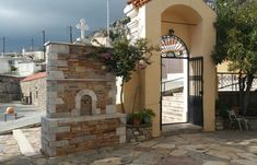 The Church Entrance - Siana In Rhodes Rhodes, West Coast, Entrance, Greece, Island, Mansions, House Styles, Beautiful, Greece Country