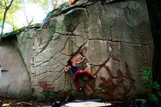 Rad looking wall. I want to climb this.  Evolv climber Melise Welbourn on Deception @ LRC