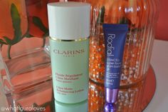 Clarins Ultra Matte Rebalancing Lotion and Rodial Stemcell Super-Food Glam Balm Lip