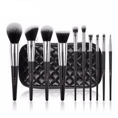 Premium Makeup Brush Set With Black Bag