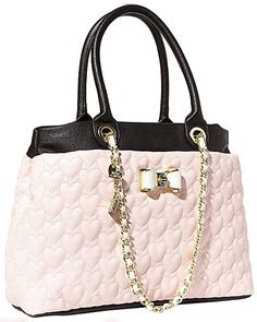 BE MY BOW SHOPPER PINK QUILTED HEARTS