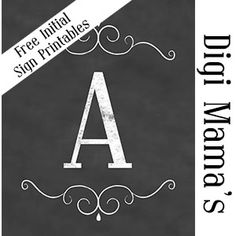 Hi, Thanks for stopping by! Today I have an AWESOME freebie for you. It is initial chalkboard sign printables. I have each letter of the alphabet for you ;) I have them saved to print as an 8-1/2 x 11 PDF File and the sign on it is sized as an 8 x 10. This would be so CUTE to use as gifts. You also could print about the spelling of a name and frame them to make an awesome collage. The possibilities with these are endless ;)
