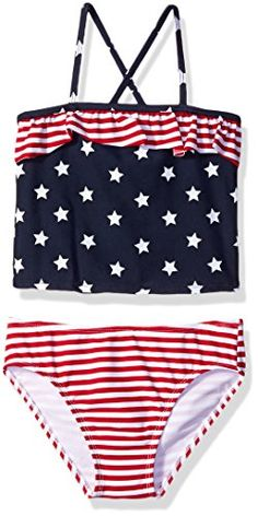 163ddf3cb4f3e Amazon.com: The Children's Place Girls' Little E Americana Tankini, Classic  Red, X-Small/4: Clothing
