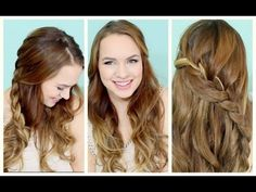 Last Minute Braided Half Updo