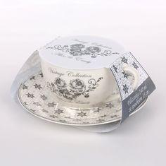 Filiżanka do kawy ze spodkiem porcelana Altom Emily - 0101004545 – Piękno w domu