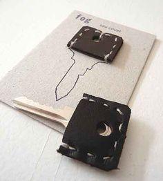 Handstitched key cover