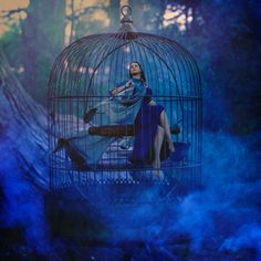 The (oxymoronic) Blue Bird of Happiness.  (Jenny Lawson by Brooke Shaden)