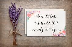 Printable save date cards, Wedding stationery, Wedding card, Wedding invitation floral, DIY wedding cards, Floral wedding card BD-6000