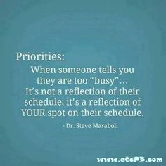 Priorities in relationships - How to deal?