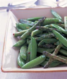 Barefoot Contessa - Recipes - Sauteed Asparagus & Snap Peas
