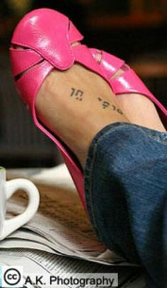 Hebrew Foot tattoo