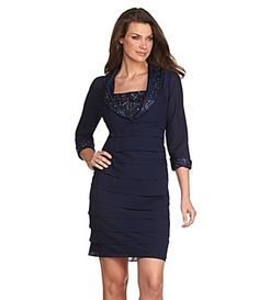 I wish this was in a different color. I love how it has a jacket with sleeves. S.L. Fashions Beaded Jacket Dress Item #03577209