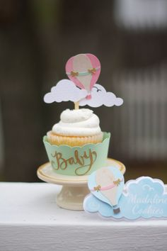 Hot Air Balloon Cupcake Toppers Multi by VanessaGrantEvents, $25.00