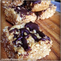 Ripped Recipes - No-Bake Sweet Butter Oat Bars - add vanilla protein powder