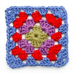 granny square haakpatroon in kleur