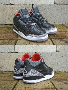"Another crazy custom! Air Jordan 3 ""Black Python"" sneakers by JBF Customs."