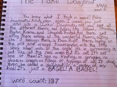 Hilarious, clever descriptive paragraph by this 12 year old :)
