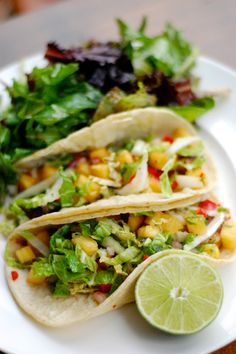 Marinated grilled shrimp tacos with pineapple pico de gallo, nappa cabbage and cilantro. Marinated Grilled Shrimp, Mexican Seafood, Spring Food, Napa Cabbage, Spanish Food, Spring Recipes, Sea Food, Cilantro, Burgers