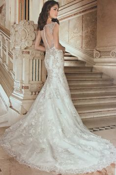 Demetrios: Lace; Ivory/Gold, Ivory and White