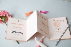 booklet inspiration - with pattern on the back of accordion pages