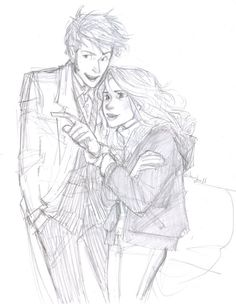 Holy canoli this girl has so much freaking talent its not even funny. 10th Doctor/Rose by Burdge Vaughn