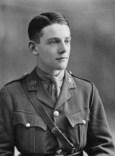 Second Lieutenant F. C. Aulagnier of the Essex Regiment attached Rifle Brigade during World War I, from Faces of the First World War via the IWM Collection