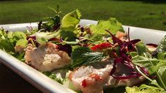 Try this Chicken Breast Salad with Goat's Curd and Lemon recipe by Chef Lucy Stewart. Lemon Recipes, Savoury Recipes, Goats Curd, Chicken Salad, Recipe Chicken, Gluten Free Chicken, Light Recipes, Gary Mehigan, Food Porn
