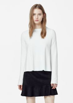 Flared sleeves sweater - Cardigans and sweaters for Women | MANGO