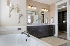 master bath vanity style {Modified Telluride by Candlelight Homes}