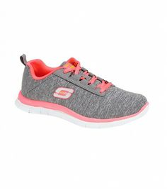 @Who What Wear - Skechers Next Generation Walking Shoes ($60) in Grey/Coral A casual dash of coral.