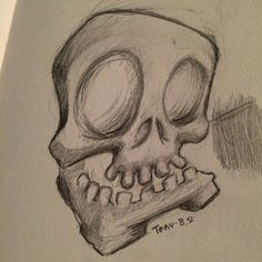 Skull sketch . Up for grabs