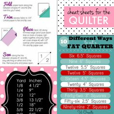 30 Pretty Picture of Sewing Printables Cheat Sheets . Sewing Printables Cheat Sheets Cheat Sheets For The Quilter Quilting For Beginners, Quilting Tips, Quilting Tutorials, Quilting Projects, Sewing Projects, Sewing Hacks, Sewing Crafts, Sewing Tips, Sewing Tutorials