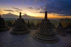 """Borobudur Temple - Java, Indonesia   """"Borobudur"""" by Tomaž Bradeško, via 500px."""