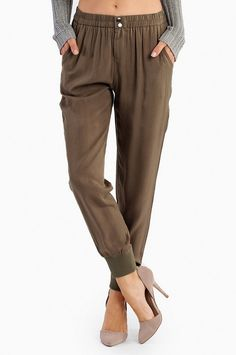 Andies Ankle Harem Pants. Would be cute with a cream blazer
