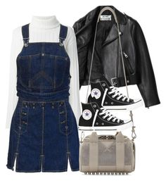 """""""Untitled #413"""" by chandele ❤ liked on Polyvore featuring Acne Studios, DKNY, Jean-Paul Gaultier, Alexander Wang and Converse"""