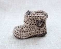Crochet Baby Boy Booties Shoes Crochet Baby Girl by LoopsInBloom
