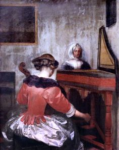 Gerard Ter Borch. From 1617 to 1681. Amsterdam Deventer. The concert.