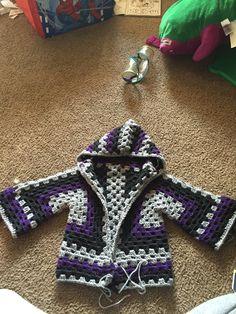 Granny Hexagon crochet sweater, so cute!