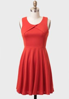 $39 (S, M, L) RucheSpiced Orange Fit-and-flare Dress
